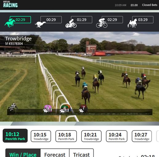 Bet on Virtual Horse Racing