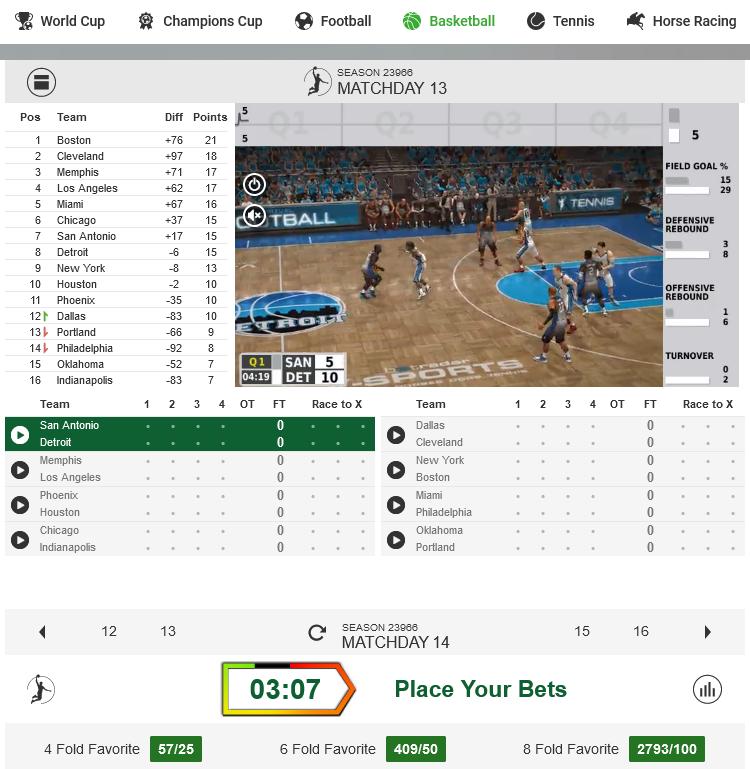 Bet on Virtual Basketball